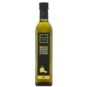 The Gift Of Oil Lemon Infused Premium Estate Extra Virgin Italian Olive Oil