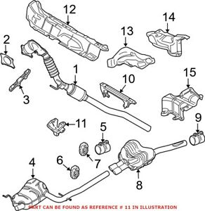 Genuine OEM Exhaust Muffler Bracket for Volkswagen 1K0253144AT