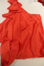 River Island beautiful one shoulder top with bow size 8, new without tags.