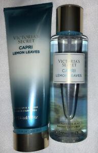 Victoria's Secret Capri Lemon Leaves Fragrance Mist And Fragrance Body Lotion