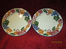 Staffordshire tableware chianti set of 2 salad plates