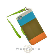 Apple iPhone 4/i4S Wallet Pouch Multi-Color Olive Green Protector Shell