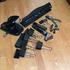 Lot Of Office Supplies Stapler Remover Binder Clips 1 2 And 3 Hole Punch