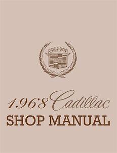1968 Cadillac OEM Factory Shop Manual