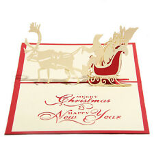 Hot 3D Pop Up Paper Handmade Greeting Cards Xmas Gifts Postcards Birthday Card