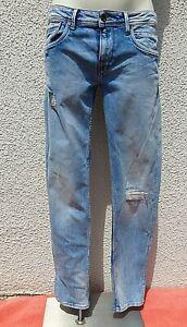 Pepe Jeans London Hatch Destroyed Slim Denim Blue Jeans Low waist Gr. 32/34