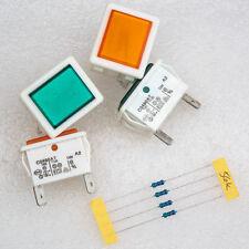 4 X Arcolectric C0480AT Green Orange Neon Indicator Mains Panel lamp Light Bulbs