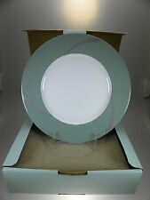 """Noritake Ambience Green Accents Plates 9.5"""" Set of 4 BRAND NEW"""