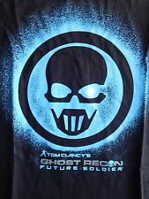 Tom Clancys Ghost Recon Future Soldier T Shirt Large Blue Logo Tshirt Video Game