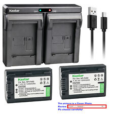Kastar Dual Charger Battery for Sony NP-FH50 & Sony Cyber-shot DSC-HX1 DSC-HX100