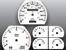 1992-1993 Dodge Dakota METRIC KPH KMH Dash Instrument Cluster White Face Gauges