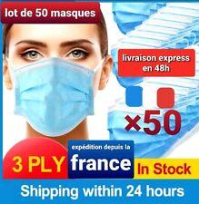 PROMO protection lot 50 MASQUE anti projection,stock en FRANCE livraison 48h