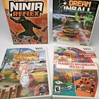 4 Wii Nintendo Video Games Ninja, Pinball, Chicken Shoot, Namco -Complete Tested