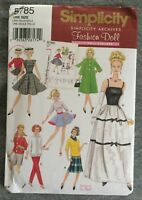 "11 1/2""  Doll Wardrobe UnCut Simplicity Blouse  Dress Fabric Sew Pattern # 5785"
