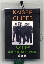 Kaiser Chiefs VIP Backstage Pass Laminated on green cord