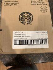 6 LBS STARBUCKS Veranda Blend Whole Bean Blonde Roast Coffee Arabica Exp 8/2020