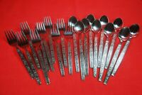 Oxford Hall PALO ALTO Stainless Flatware 20 Pieces Iced Tea Spoons & Salad Forks