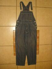 Mens WEBS TECH Jeans Workwear Denim Blue Jean Unlined BIB OVERALLS 34 X 30