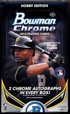 2014 Bowman Chrome Baseball Factory Sealed Hobby Box  (2 Chrome Auto's/Box)