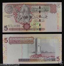 Libya 5 Dinars Banknote 2003 UNC