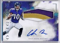 CHRIS MOORE - 2016 Origins Rookie 3 Color SP Patch AUTO - Ravens RC
