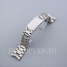 20mm Silver Full Steel Curved End Men's Watch Band Bracelet Fit Seamaster 007