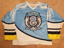 496465013 Sublimation Kings Blue White Hockey Jersey Section 8 Senior Adult 4XL  Warrick #4