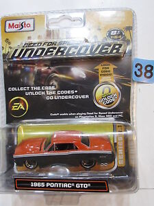MAISTO NEED FOR SPEED UNDERCOVER EA 1965 PONTIAC GTO SCALE 1:64