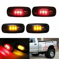 4pcs Side LED Fender Dually Red Amber Marker Bed Light for 03-09 Dodge Ram 3500