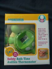 Aquatopia Baby Floating Turtle Safety Bath Thermometer Audible Alarm New Nib