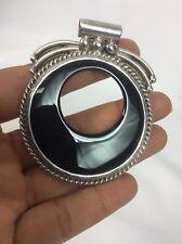 Statement sterling Silver 925 Black Onyx Slide Pendant