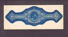 Essay, Blue Internal Revenue Stamped Paper, 2 Cents, Washington Bust, 1862-72.