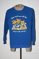 VTG 80's University of Kentucky Wildcats Blue Crewneck Sweatshirt NICE WOW