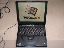 Vintage IBM Thinkpad 2621 Laptop Windows 98 SE Gaming, Serial Port, Works Great