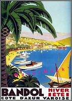 Cote D'Azur 1930 Bandol France Vintage Poster Print Art French Wine Region