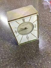 French Vintage Modern Phinney-Walker 1-jewel Transistor Clock Brass Deco