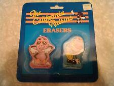 Vintage California Raisins erasers. Still in package.
