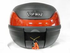 TOP BOX 32L BLACK MOTORCYCLE  SCOOTER BACK BOX LUGGAGE STORAGE UNIVERSAL FIT