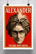 Alexander The Man Who Knows Vintage Magician Poster Canvas Giclee 24x34 in.
