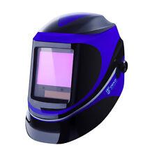 Blue Pro Solar Auto Darkening Welding Helmet Arc Tig Mig Mask Grinding Welder