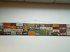 Vintage 1953 Mini License Plate collection - Post Cereal