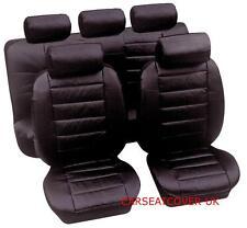 Hyundai Santa Fe - Luxury PADDED Leather Look Car Seat Covers - Full Set