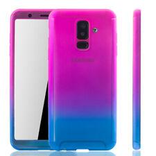 Samsung Galaxy A6 Plus 2018 Hülle Case Handy Cover Schutz Panzerfolie Pink Blau
