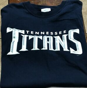 NWOT Tennessee Titans s/s Nike jersey style t-shirt size XL, L blue