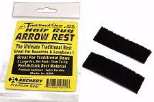 "2 Pc Pack 1""x3"" Bow Adhesive Hair Rug Arrow Rest Archery Recurve Bow #Hr-00"