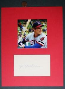 1980-82 Cleveland Indians Super Joe Charboneau autographed card & photo set-COOL