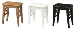 Brand New Ikea INGOLF Stool, Brown-black, White, Antique Stain, Solid Wood Stool