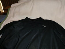 athletic works black pull over shirt long sleeve