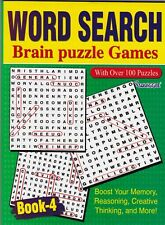WORDSEARCH PUZZLE BOOK BRAIN PUZZLES 4 129 PUZZLES- BUY ANY 2 GET ANY 1 FREE