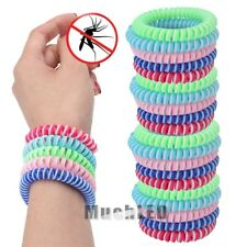 10Packs Natural Mosquito Repellent Bracelet Band Bug Insect Protection Deet-Free